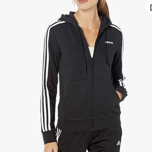 Adidas Essentials Three Stripe Hoodie zip up. XS